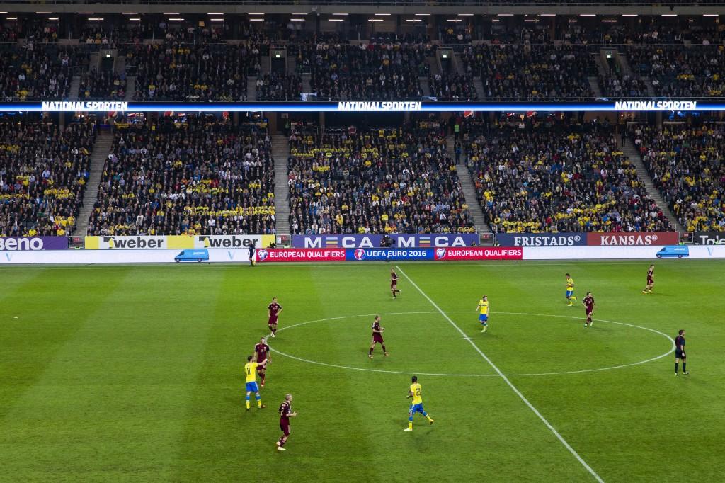 Fotboll, EM-kval, Sverige - Ryssland