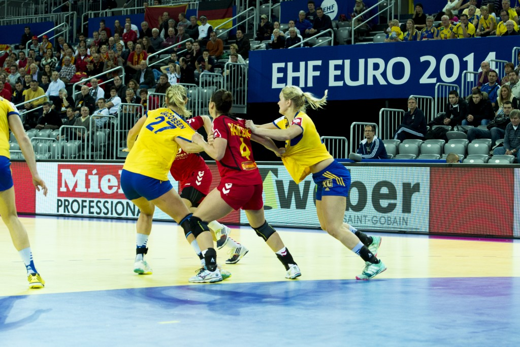 Handboll, Dam, EM, Sverige - Montenegro
